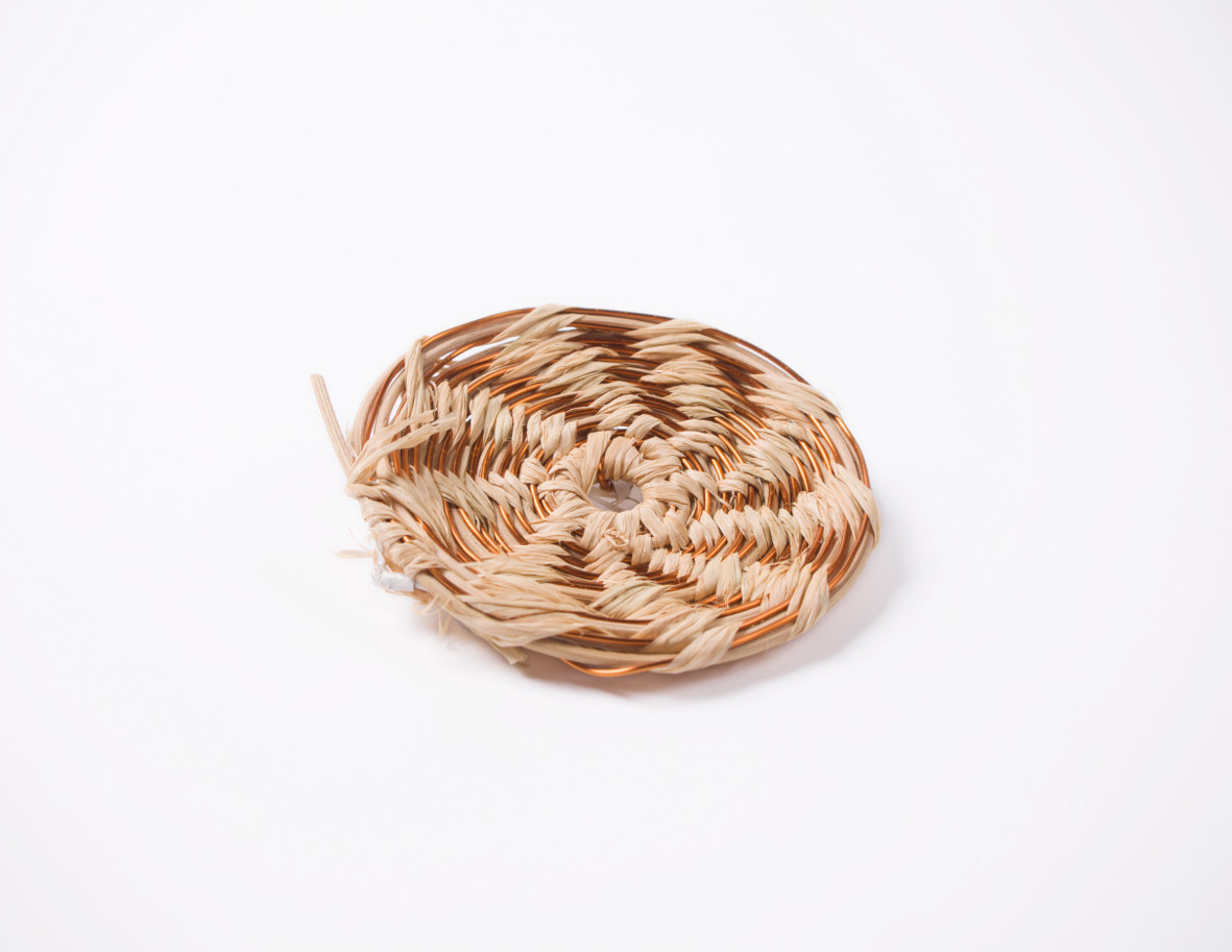 Basket weaving with copper