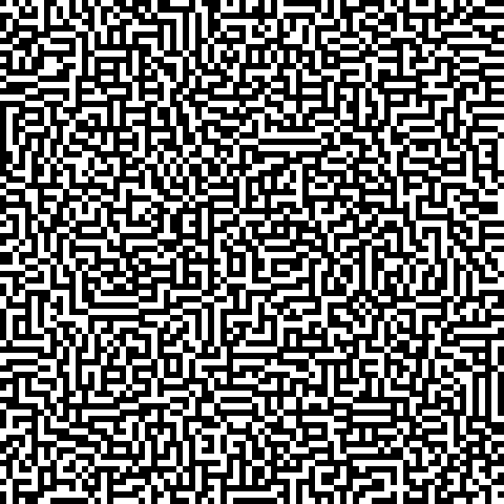 Cellular Automata Maze (source https://english.rejbrand.se/rejbrand/article.asp?ItemIndex=421)
